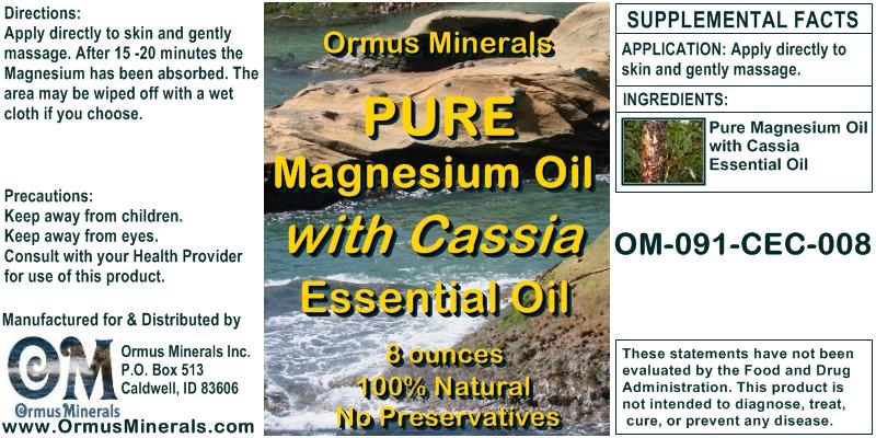 What Is Magnesium Oil - Ormus Minerals PURE Magnesium Oil